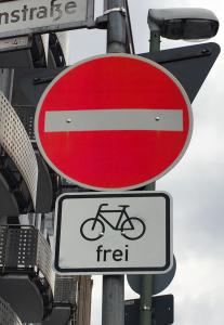 Einbahnstraße Fahrrad frei