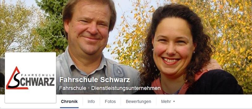 Facebookseite Fahrschule Schwarz
