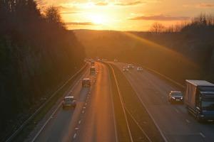 Geschwindigkeit auf der Autobahn